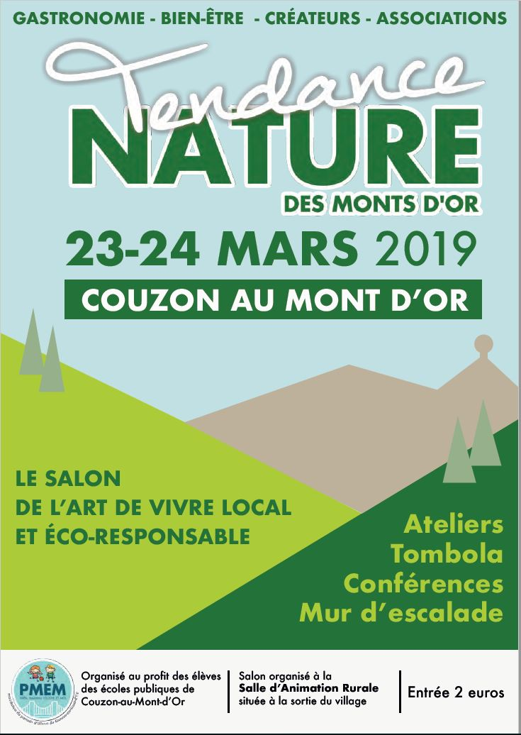 Salon Tendance Nature les 23 & 24 mars 2019 à Couzon au Mont d'Or